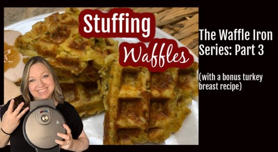Stuffing Waffles! Quick & easy recipe with turkey. Thanksgiving on a Plate! | Waffle Iron|Crockpot