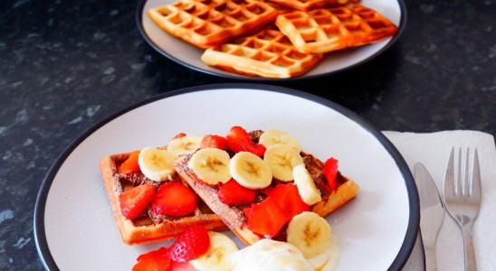 Waffles - Simple ingredients, rich and tasty recipe.