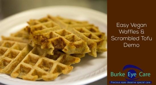 Quick & Easy Vegan Waffle Recipe + Tofu Scramble Demo