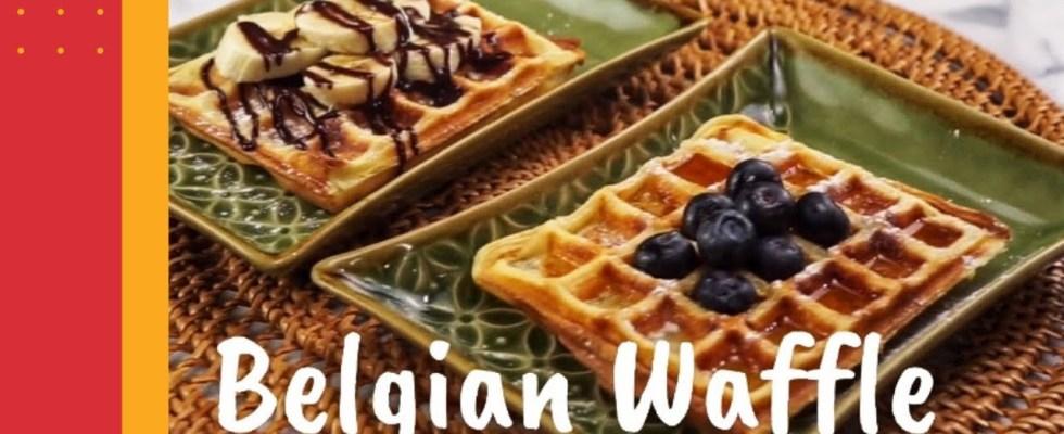 Belgian Waffle Recipe - For Yummy Breakfast - Crispy and Fluffy