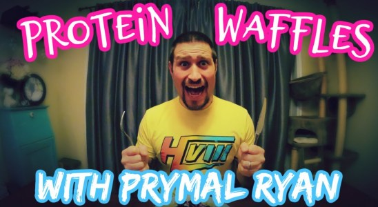 COOKING PROTEIN WAFFLES \ MUSCLE BUILDING RECIPE
