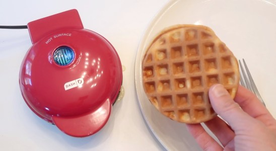 Dash Mini Waffle Maker Review Unboxing Waffle Recipe - Bow and Go