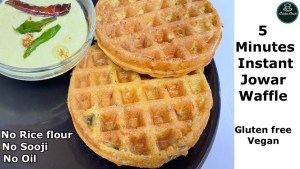 No oil jowar recipe | Sorghum Veggie Waffle |  Healthy Weight Loss Recipes | Gluten Free | Vegan