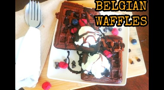 Belgian Waffles Recipe in Tamil#Eggless Chocolate Waffles#Chocolate Waffles#American Breakfast
