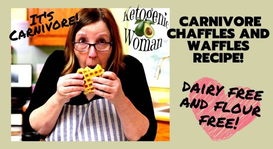 Carnivore Chaffle recipe for EASY Breakfast Sandwich! Dairy free zero carb waffles and chaffles.
