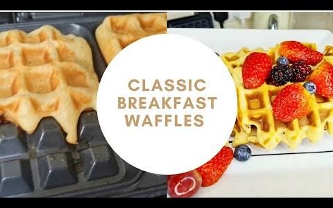 Fluffy, Crispy  & Easy Homemade #Waffles | Classic Breakfast Waffles #Recipe
