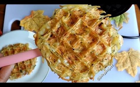 easiest Hash Brown recipe! | waffle-maker hack
