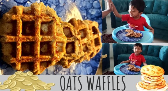 oats waffle recipe | Benefits of Oats | Eggless banana oats waffles at home | Snack recipe for kids