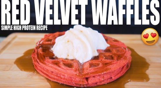 ANABOLIC RED VELVET WAFFLES | Simple High Protein Waffle Recipe | Healthy Bodybuilding Breakfast