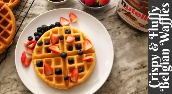 BELGIAN WAFFLES | BELGIAN WAFFLES RECIPE | How to make perfect crispy and fluffy waffles