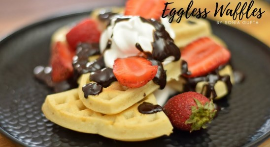 Homemade Easy Waffle Recipe | How to Make Waffles from Scratch | Eggless