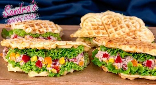 How To Make The Best Savory Waffles With Tuna Salad | Tuna Recipe