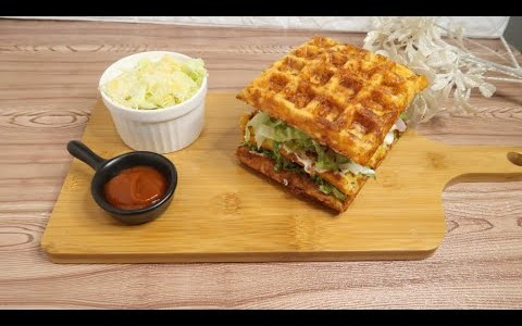 KETO WAFFLE BURGER FOR KETO DIET l By Recipe and recipes l Dinner