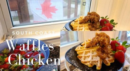 Waffles + Chicken Recipe | South Coast Style | Sweet Potato | #shorts #lakeerie #portcolborne