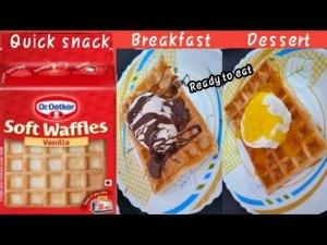 Dr Oetker Waffles Ready To Eat   Easy To Make   Instant Recipe   Urdu Hindi - NN