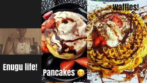 Enugu living!!  Trying out new recipes for waffles, running errands.