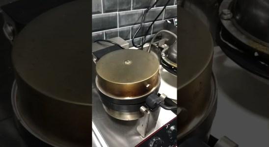 How to make Belgian Waffle | Recipe | Making | Dessert | Food Wackadoos #shorts #ytshorts