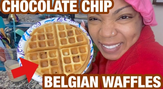 CRISPY CHOCOLATE CHIP BELGIAN WAFFLES|EASY RECIPE|SUNDAY BRUNCH WITH THE FAMILY|BLACK FAMILY VLOGS