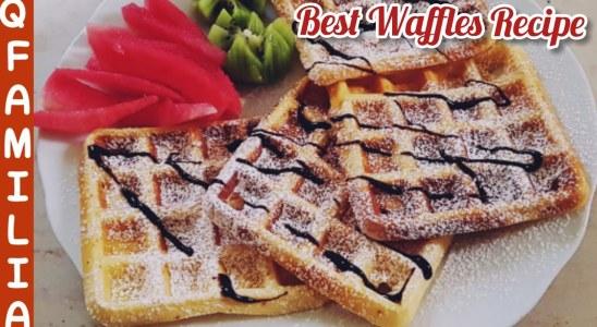 Easy Breakfast Recipe   Best Waffles Recipe   Yummy Breakfast in Lockdown   Homemade Waffles