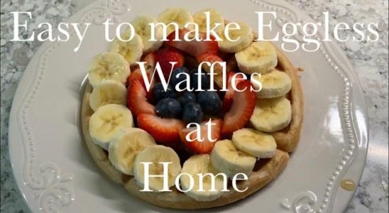 Eggless waffles Recipe   Waffles Breakfast recipe   How to make eggless waffles at home