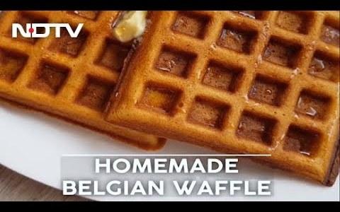 How To Make Belgian Waffle   Easy Homemade Belgian Waffle Recipe Video