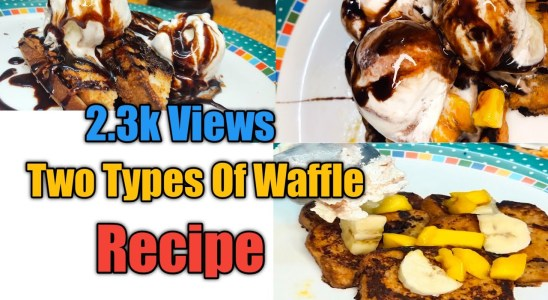 NO EGG Waffle  Two Types Of Waffle Recipes  Very Delicious And Unique Recipe  Easy To Cook At Home 