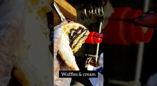 Waffle Making video   Classic Belgium waffle   #shorts #waffles