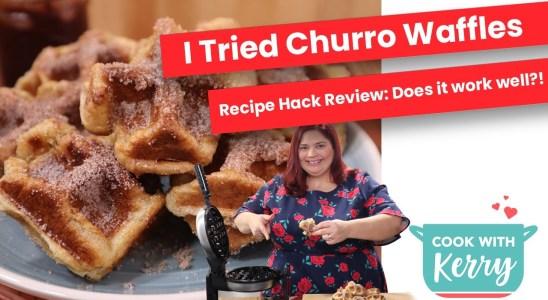 I Tried Making Waffle Churros   Waffle Iron Churro Recipe Review