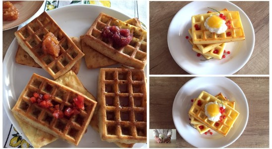 Oven Baked Buttermilk Waffles | using a Silicone Mold | recipes for your kids also