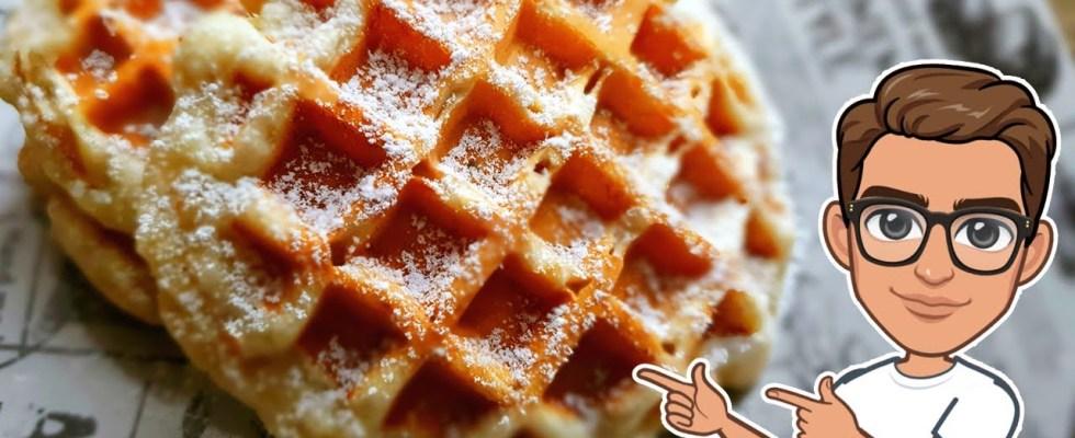 Banana Waffles Recipe | Quick & Easy Breakfast Recipe | Homemade Banana Waffles | Resepi Waffle