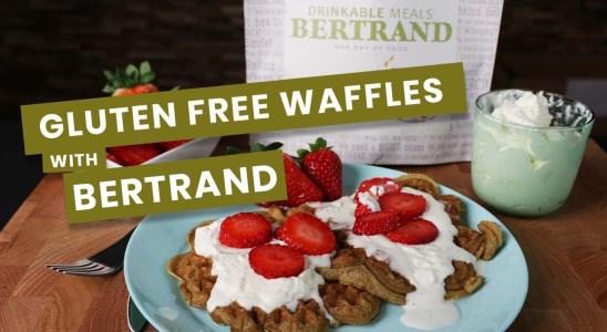 Gluten free waffles with BERTRAND