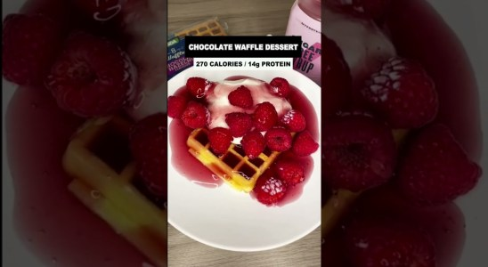 High Tasty Low Calorie Chocolate Waffle Recipe #Shorts