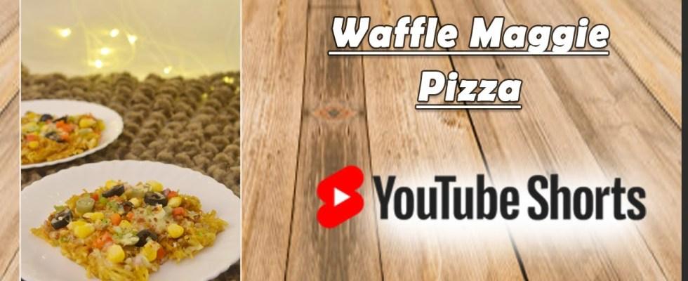 Loaded Maggi Pizza Waffle | Maggi Recipe | Maggi Pizza | Hunger Plans | #shorts