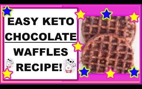 EASY KETO CHOCOLATE WAFFLES RECIPE!!  :D