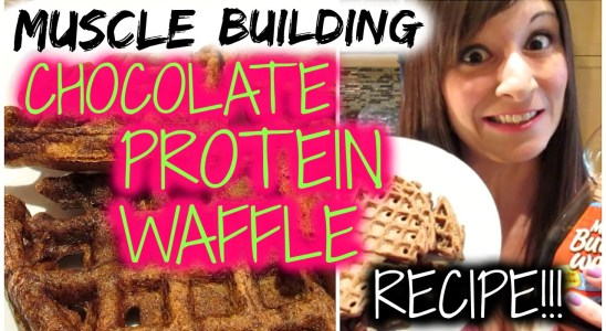 MUSCLE BUILDING CHOCOLATE PROTEIN WAFFLE RECIPE! Nicole Collet