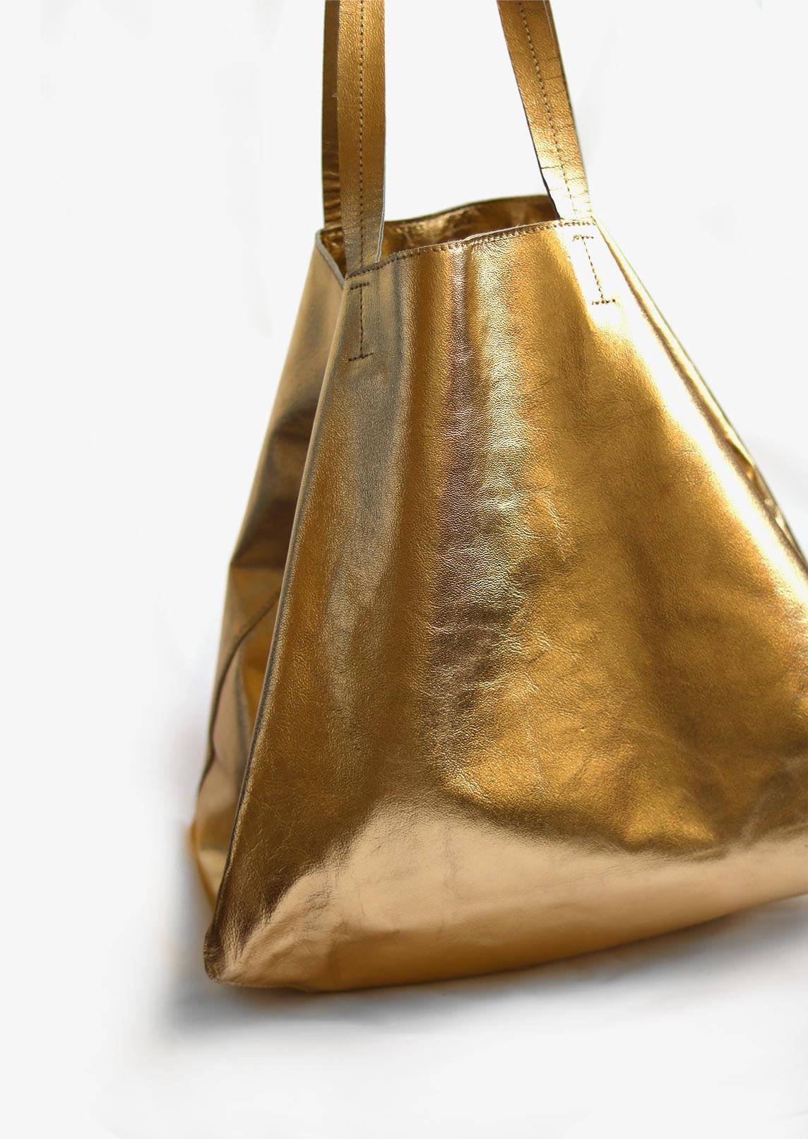 Wagapé cabas XL doré cuir