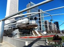 The Jay Pritzker Pavilion by Frank Gehry