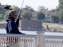 (This guy caught two or three fish while we were waiting to start the ride!)
