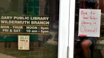 Sadly, all their libraries were closed from the previous night's storm.