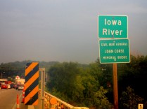 I left Iowa City in a bit of a down-pour. This was the last photo I took before I was forced to bag my camera.
