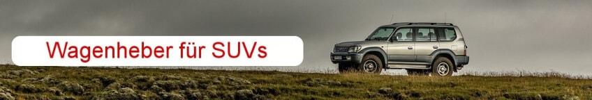 Wagenheber fuer SUV im Vergleich
