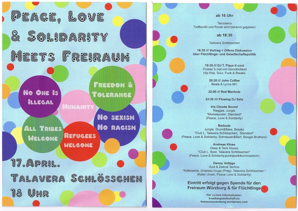 Love Peace and Solidarity Flyer