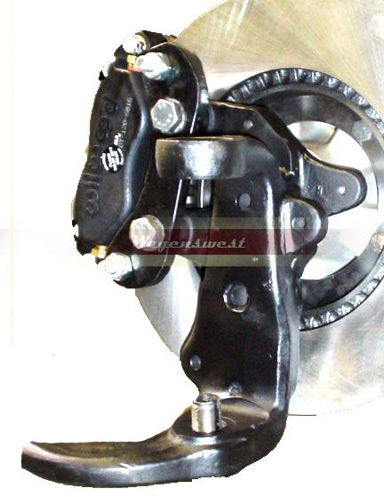 1955-79 Porsche hybrid conversion dropped spindles.-414