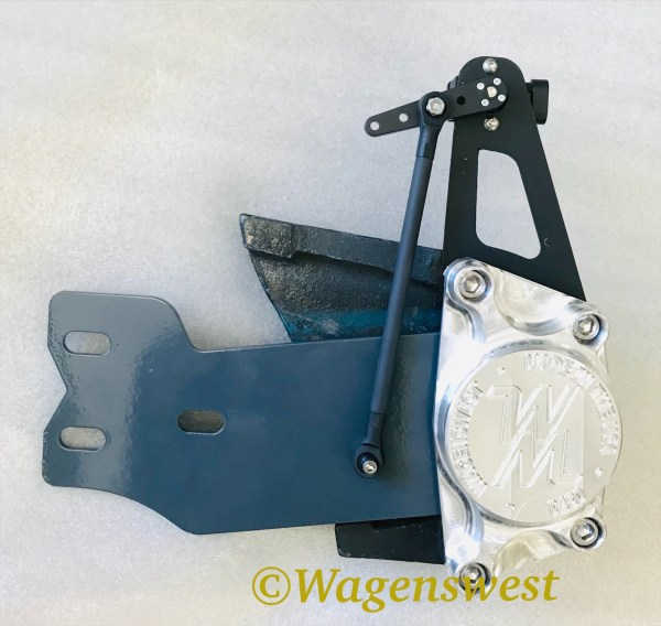 Air ride rear encoder mount