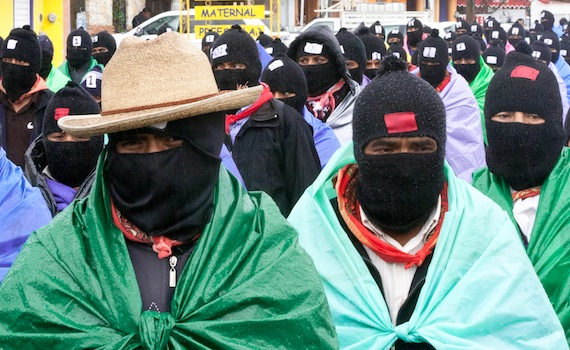 Thousands of Zapatistas marched silently through the city of San Cristóbal de las Casas in the Mexican state of Chiapas on December 21, 2012. (WNV/Marta Molina)