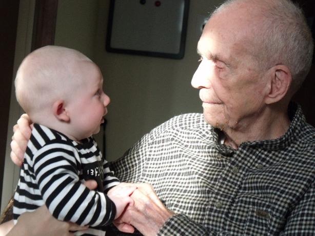 Seamus and Uncle Dan (WNV / Patrick Sheehan-Gaumer)