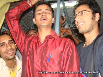 Dinesh Wagle in Delhi local train