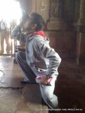photographing khajuraho carvings