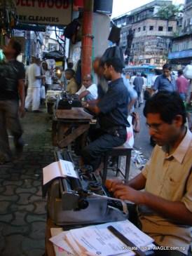 typists in MG Road, Kolkata