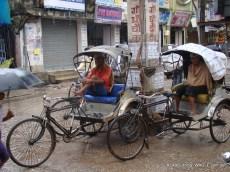 rickshaw of kolkata, india
